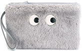 Anya Hindmarch cartoon eyes clutch - women - Goat Skin/Lambs Wool - One Size