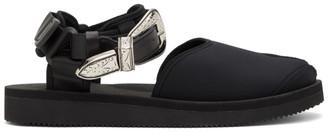 Toga Black Suicoke Edition Tabi-SP Sandals