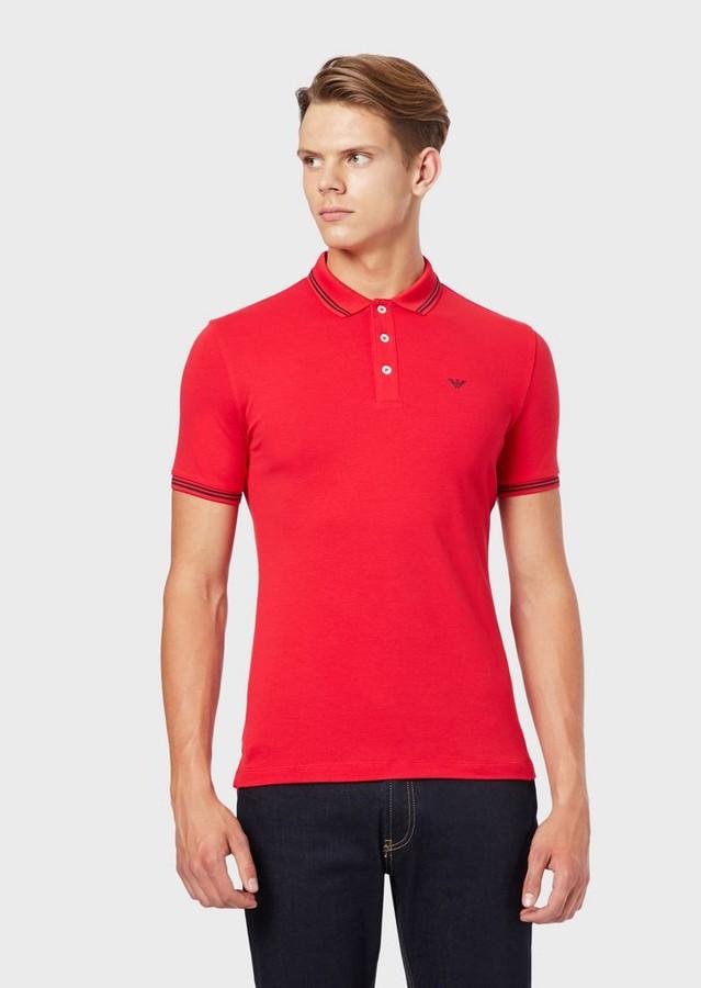 b3b09a22bd Polo Shirt In Stretch Cotton