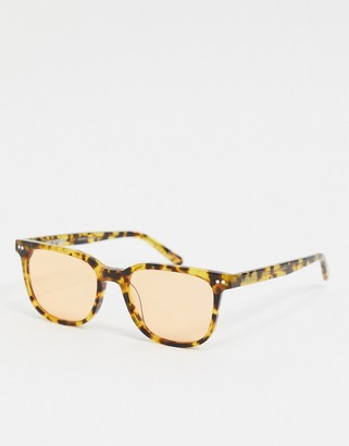 Hot Futures square retro sunglasses in orange tort