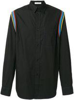 J.W.Anderson contrast striped shirt - men - Cotton - 46