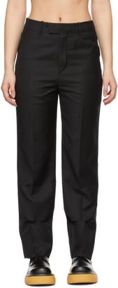 Ader Error Black Wool Slit Trousers