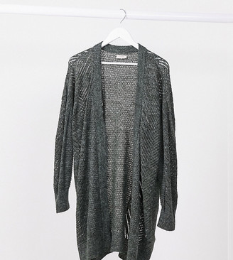 Only Curve cardigan in dark green