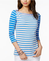 Tommy Hilfiger Cotton Boat-Neck Top, Only at Macy's