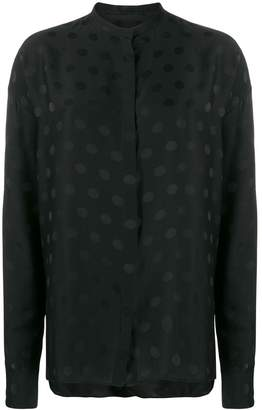 Haider Ackermann mandarin collar polka dot shirt