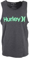 Hurley Mens One & Only Push Through Tank-Top Top, Size:, Color: Blk Htr