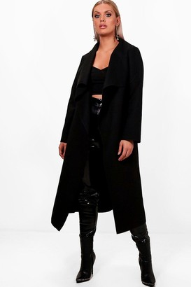 boohoo Plus Wool Look Coat