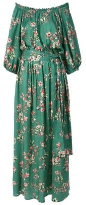 Aggi Jill Green Flowers Dress