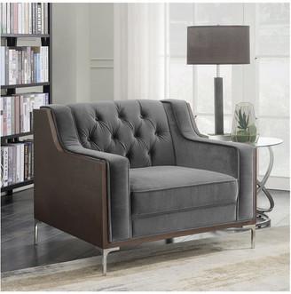 Chic Home Clark Grey Velvet Club Chair