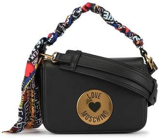Love Moschino cross body bag with scarf