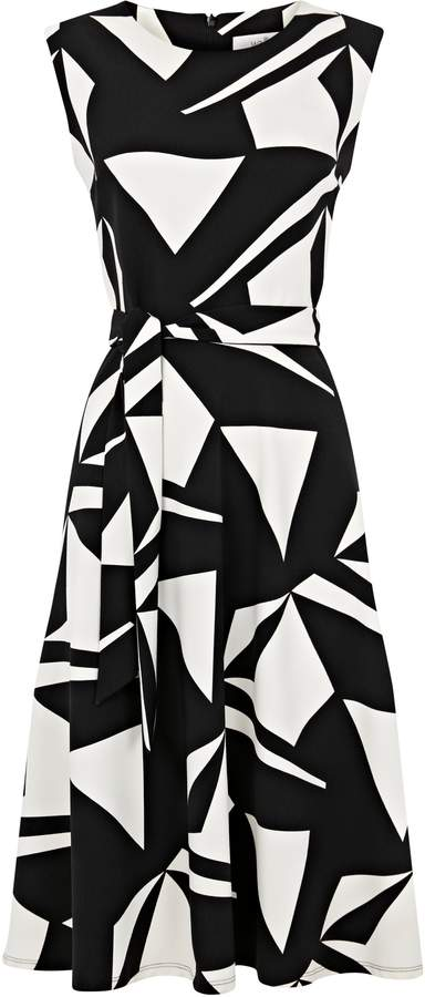29520322236 Fit And Flare Dress Monochrome - ShopStyle UK