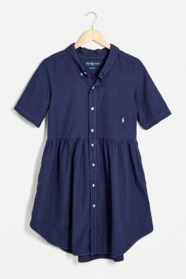 Urban Renewal Vintage Urban Outfitters Vintage Indigo Ralph Lauren Babydoll Dress - Blue M/L at Urban Outfitters