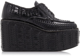 Prada Woven Platform Loafers