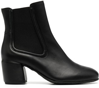 Del Carlo Fox leather ankle boots