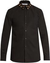 Givenchy Cuban-fit studded-collar cotton shirt