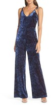 Adelyn Rae Women's Regina Crushed Velvet Jumpsuit