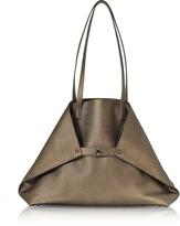 Akris Copper Laminated Cervocalf Ai Medium Shoulder Bag