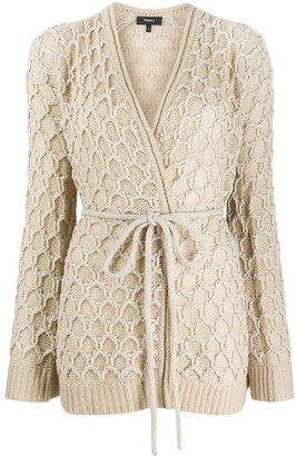 Theory Wrap-Style Belted Cardigan