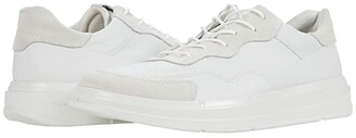 Ecco Soft X Sneaker (White/Shadow White Cow Leather/Calf Suede) Men's Shoes