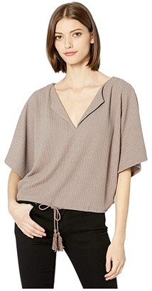 BB Dakota West End Girl Lurex Knit Dolman Sleeve (Shimmer) Women's Clothing