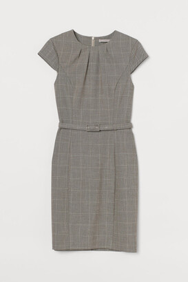 H&M Dress with Belt - Brown