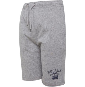 Russell Athletic Junior Boys Track Shorts Vintage Grey Heather