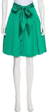 Belted Silk Skirt