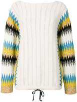 Roberto Collina zigzag sleeve sweater