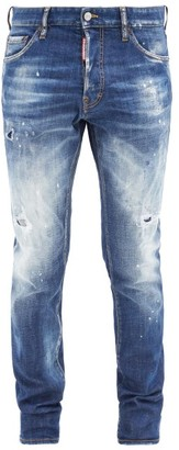 DSQUARED2 Cool Guy Distressed Slim-leg Jeans - Blue
