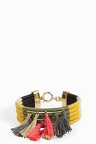 Isabel Marant Multi Woven Tassel Bracelet