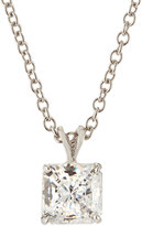 FANTASIA Princess-Cut CZ Pendant Necklace