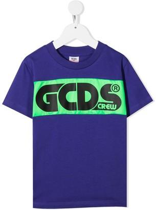 Gcds Kids Crew logo print T-shirt