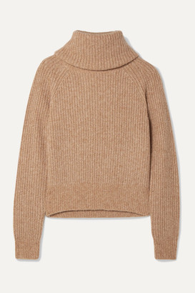Diane von Furstenberg Pax Ribbed-knit Turtleneck Sweater - Sand