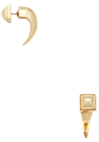 Rebecca Minkoff Pyramid Front & Back Earrings