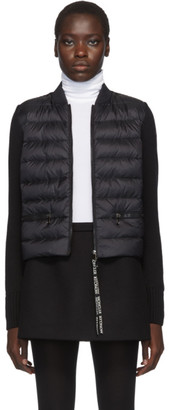 Moncler Black Knit Down Jacket