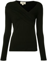 L'Agence asymmetric V-neck top
