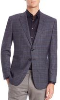 Giorgio Armani Plaid Wool & Cashmere Blazer