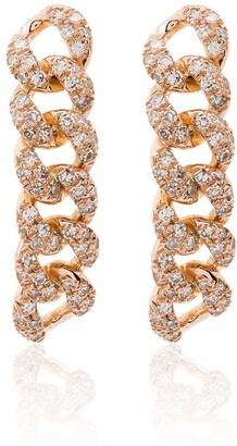 Shay 18kt Rose Gold Chain-Link Diamond Earrings