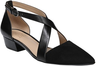 Naturalizer Cross Strap Leather Pumps - Blakely