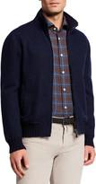 Mandelli Men's Cashmere Zip-Front Sweater