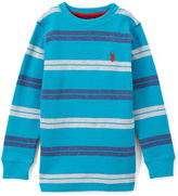 U.S. Polo Assn. Shocking Peacock Thermal Long-Sleeve Top - Boys