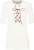 Sonia Rykiel Lace-up cotton-jersey top