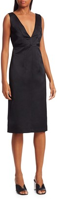 No.21 V-Neck Midi Sheath Dress