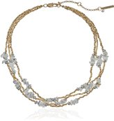 "Kenneth Cole New York Palm Desert"" Semiprecious Chip Bead Illusion Necklace, 16"" + 3.5"" Extender"