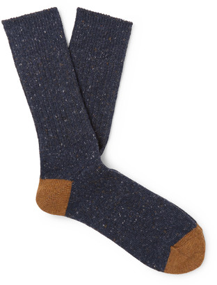 Melange Home Anonymous Ism Two-Tone Knitted Socks