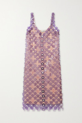 Paco Rabanne Embellished Chainmail Dress - Silver