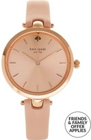 Kate Spade Holland 34mm Sunray Dial Leather Strap Watch