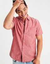 American Eagle Outfitters AE Short Sleeve Chambray Shirt