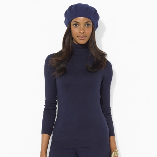 Ralph Lauren Silk & Cotton Turtleneck