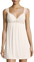 Eberjey Enchanted Lace-Trim Chemise, White